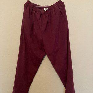 SOLD Dark purple corduroy baggy pants